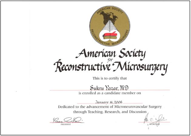 American Society Reconstructive Microsurgery